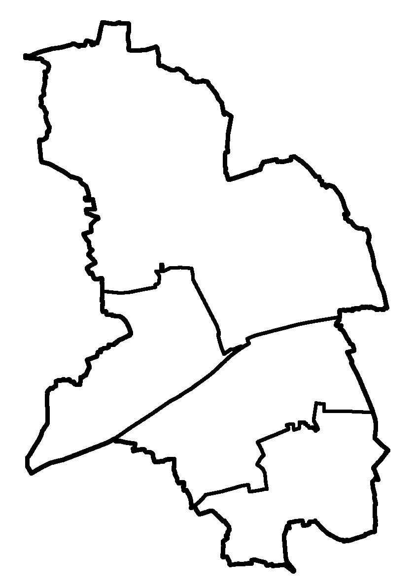 Karte der Gemeindegrenzen